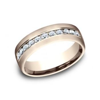 BENCHMARK Mens Rose Gold Wedding Band CF717538R