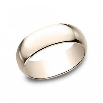 BENCHMARK Mens Rose Gold Wedding Band 180R