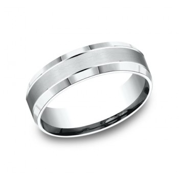 BENCHMARK Mens Platinum Wedding Band CF66436PT