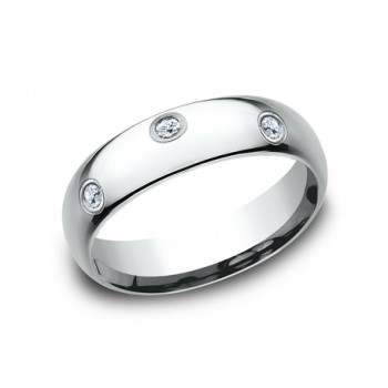 BENCHMARK Ladies White Gold Wedding Band LCF160DW