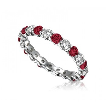 Ruby & Diamond Eternity Band