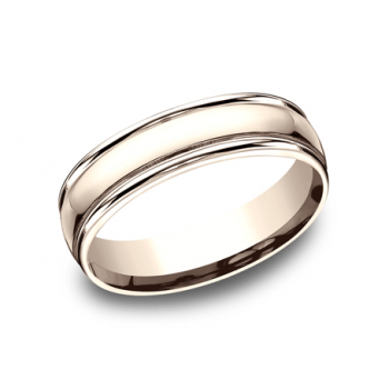 BENCHMARK Mens Rose Gold Wedding Band CF15608R