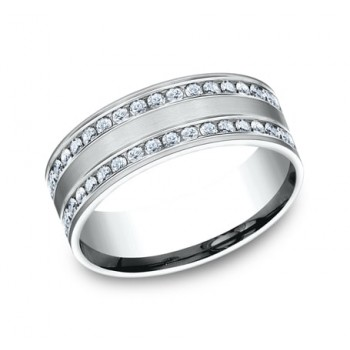 BENCHMARK Ladies White Gold Wedding Band CF528551W