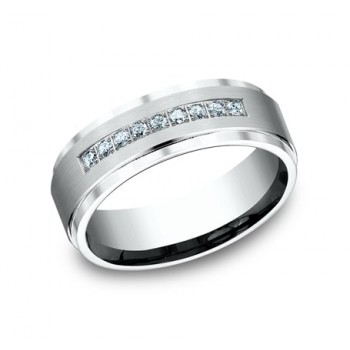 BENCHMARK Mens 14k White Gold Wedding Band CF67380W