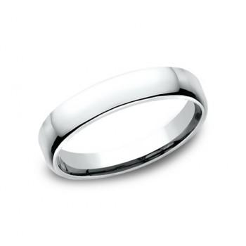 CLASSIC Mens 14k White Gold Wedding Band EUCF145W