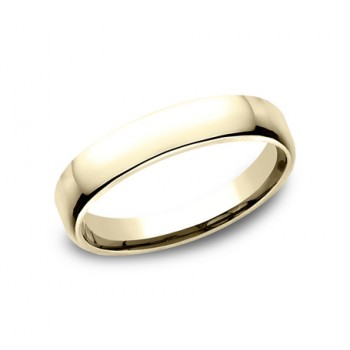 CLASSIC Mens 14k Yellow Gold Wedding Band EUCF145Y
