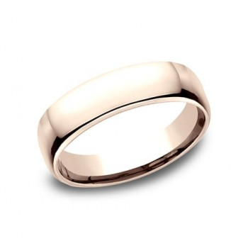 CLASSIC Mens 14k Rose Gold Wedding Band EUCF155R