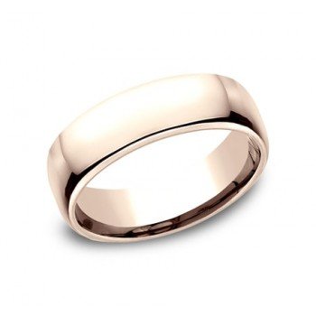 CLASSIC Mens Rose Gold Wedding Band EUCF165R