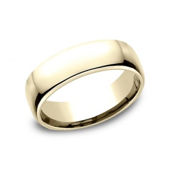 CLASSIC Mens 14k Yellow Gold Wedding Band EUCF165Y