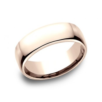 CLASSIC Mens 14k Rose Gold Wedding Band EUCF175R