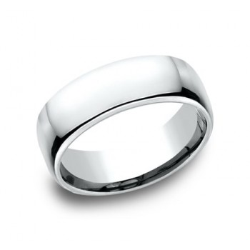 CLASSIC Mens 14k White Gold Wedding Band EUCF175W