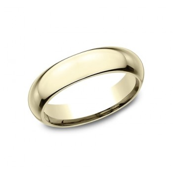 CLASSIC Mens Yellow Gold Wedding Band HDCF150Y