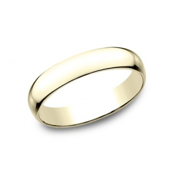 CLASSIC Mens 14k Yellow Gold Wedding Band L140Y