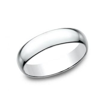 CLASSIC Mens 14k White Gold Wedding Band L150W