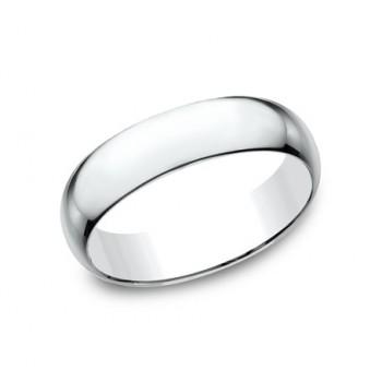 CLASSIC Mens 14k White Gold Wedding Band L160W