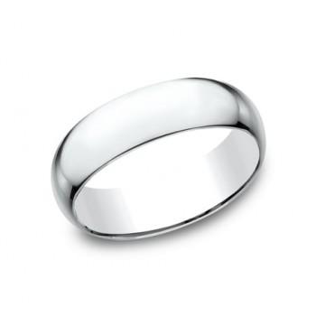 CLASSIC Mens 14k White Gold Wedding Band L170W