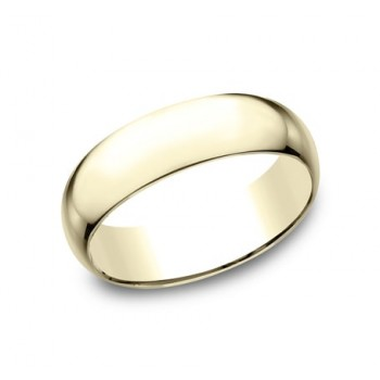 CLASSIC Mens 14k Yellow Gold Wedding Band L170Y