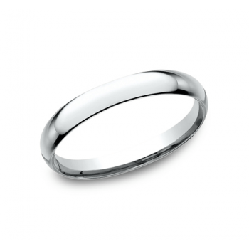CLASSIC Mens 14k White Gold Wedding Band LCF125W