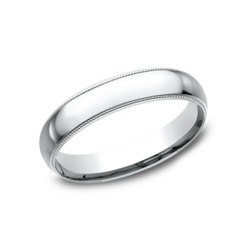 CLASSIC Mens 14k White Gold Wedding Band LCF340W