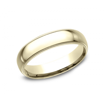 BENCHMARK Mens Yellow Gold Wedding Band LCF350Y