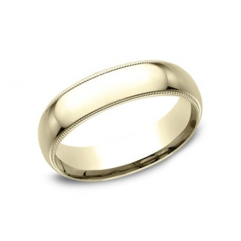 CLASSIC Mens Yellow Gold Wedding Band LCF360Y
