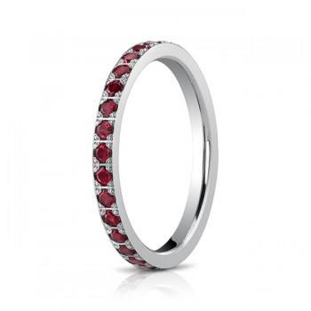2mm Ruby Eternity Band