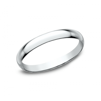 CLASSIC Mens 14k White Gold Wedding Band 120W
