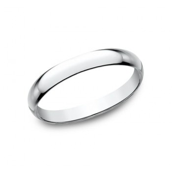 CLASSIC Mens 14k White Gold Wedding Band 125W
