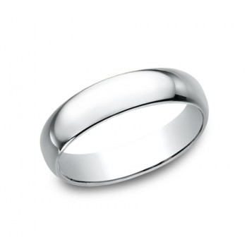 CLASSIC Mens 14k White Gold Wedding Band 150W
