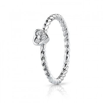 2mm Triple Diamond Heart Band