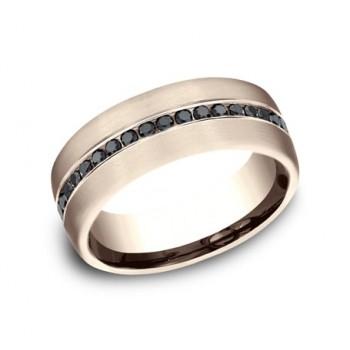 BENCHMARK Mens 14k Rose Gold Wedding Band CF717551R