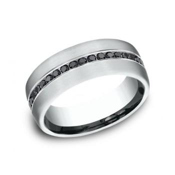 BENCHMARK Mens 14k White Gold Wedding Band CF717551W
