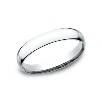 CLASSIC Mens White Gold Wedding Band SLCF130W