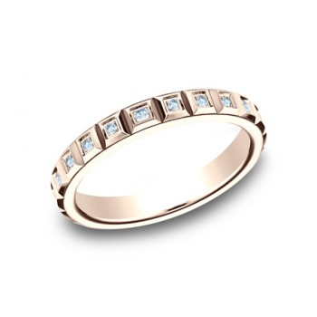 BENCHMARK Ladies Rose Gold Wedding Band 473682R