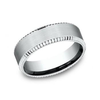BENCHMARK Mens White Gold Wedding Band CF67527W