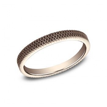 BENCHMARK Ladies Rose Gold Wedding Band 8425689R