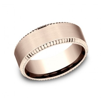 BENCHMARK Mens Rose Gold Wedding Band CF188527R