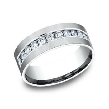 BENCHMARK Mens 14k White Gold Wedding Band CF528531W