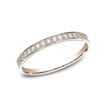 BENCHMARK Ladies Rose Gold Wedding Band 522800R