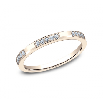 BENCHMARK Ladies Rose Gold Wedding Band 522851R