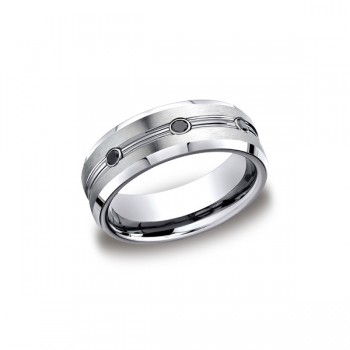 Forge Cobalt 7.5mm Black Diamond Band
