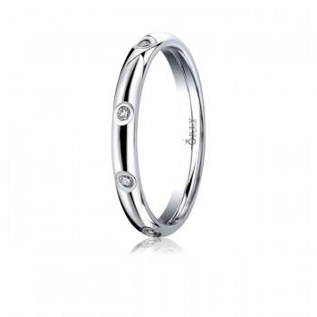 3mm Oval Polished Finish Diamond Light Comfort Fit Band