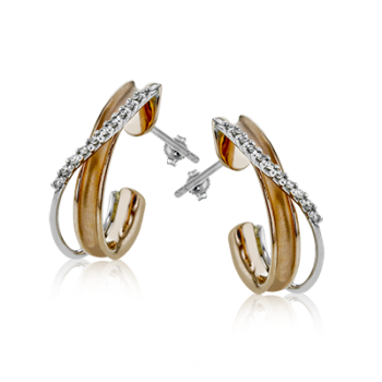 18K TWO-TONE  GOLD LE2130 EARRING