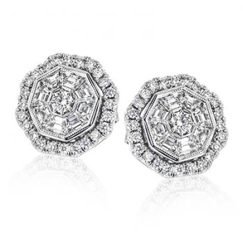 18k Gold White LE4564 Earring