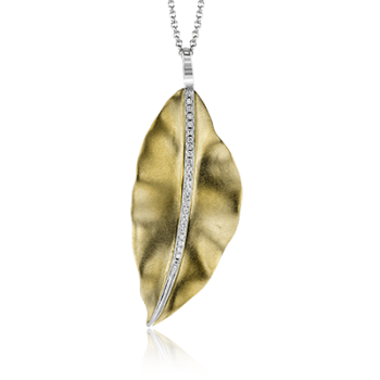 18K GOLD TWO TONE LP4521-Y PENDANT