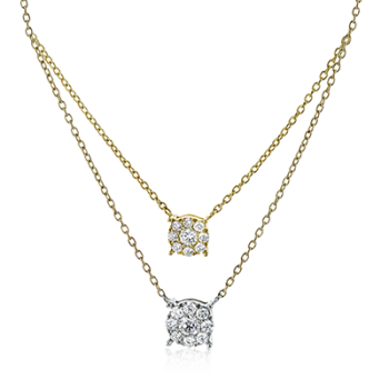 18K GOLD TWO-TONE LP4811 PENDANT