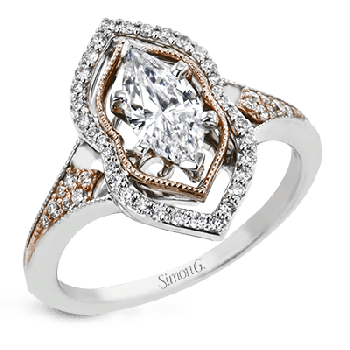 18K GOLD TWO TONE LR2677 ENGAGEMENT RING