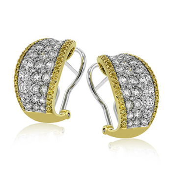 18K GOLD YELLOW & WHITE ME2262 EARRING
