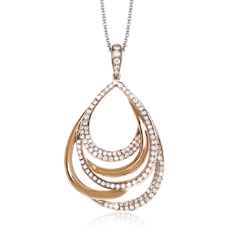 18K ROSE GOLD, WITH WHITE DIAMONDS. MP2022 - PENDANT