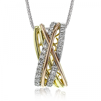 18K GOLD TRI COLOR MP2081 PENDANT